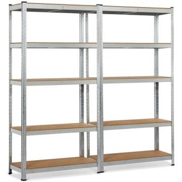 5 Tier Storage Rack Adjustable Garage Shelf Steel Shelving Unit