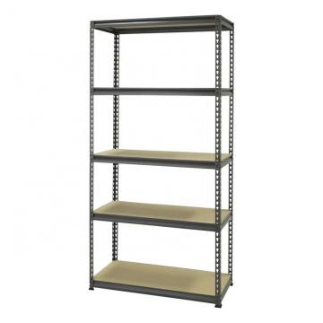 Shelf Unit, Flat Gray Shelves & Legs / 5-Shelf Steel Shelving Unit