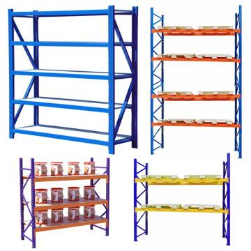 Q235 B Steel OEM Small Wholesale Allowed Blue and Orange Warehouse Storage Pallet Rack