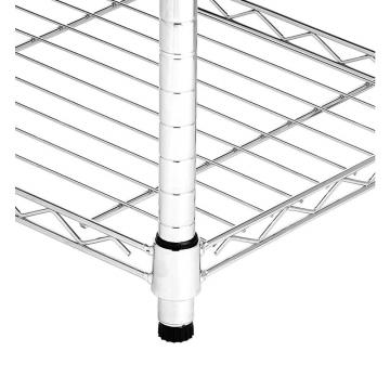 Wlt C2 4 Tiers Commercial Storage Rack Heavy Duty Chrome Steel Wire Shelving